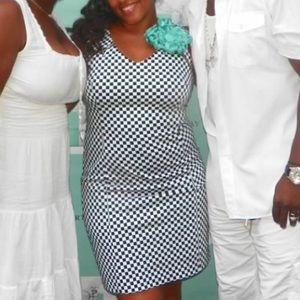 New York & Company Black and White dress